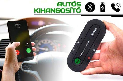 Kis méretű autós Bluetooth kihangosító