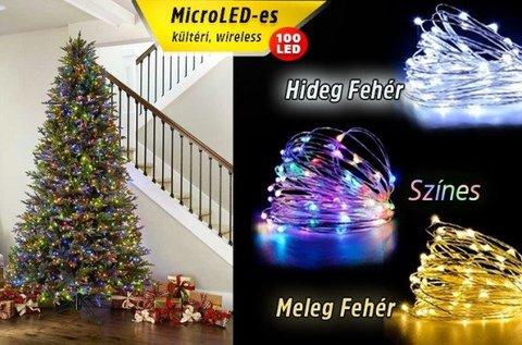 Kültéri fényfüzér 100 db ragyogó microLED-del