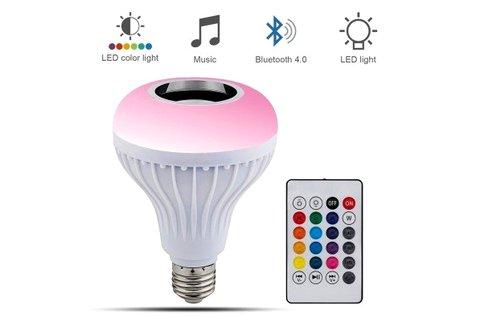Bluetooth-os party LED izzó E27-es foglalattal
