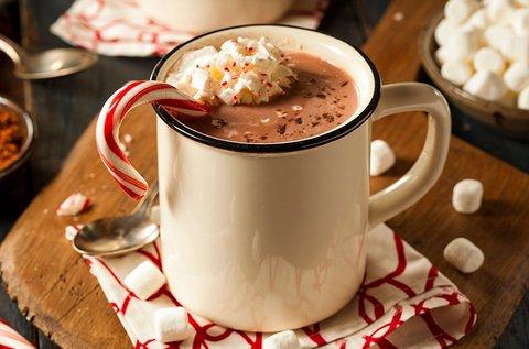 Forró csokoládé gyümölcsös somlóival 1 fő részére