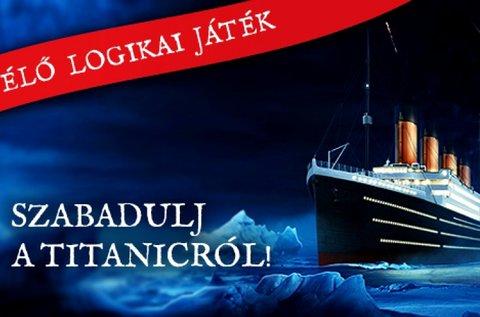 Titanic szabadulós játék 2-6 fő részére 60 percben