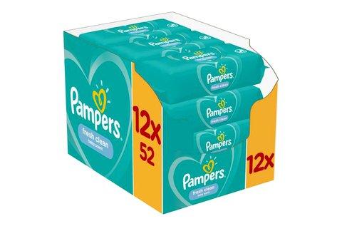 12x52 db Pampers Fresh Clean törlőkendő