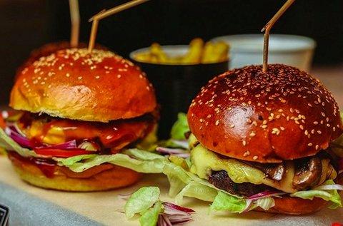 Választható hamburger sült krumplival