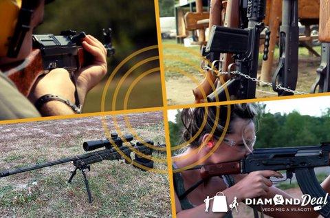 Mesterlövészet élmény 3 valódi fegyverrel
