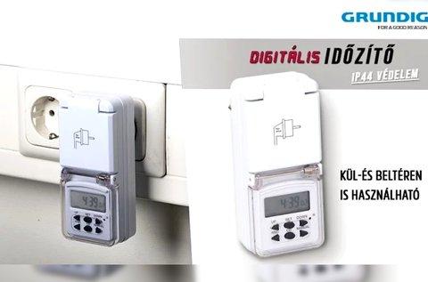 Grundig digitális időzítő kül- és beltéri használatra