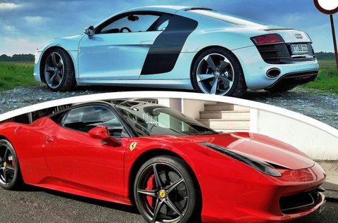 Vezess Ferrari 458 Italiát és Audi R8-at közúton!