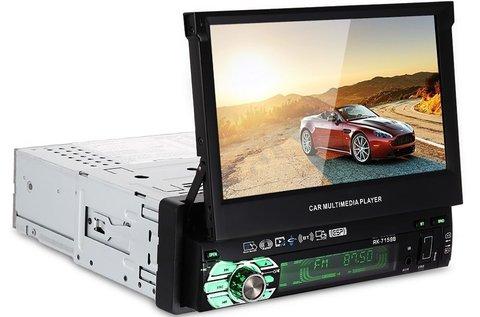 Multifunkciós autórádió rejtett LCD kijelzővel