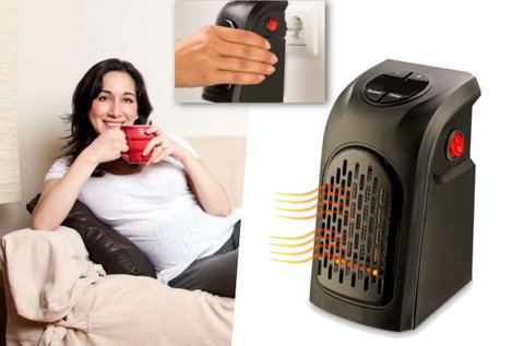 Kompakt hősugárzó beépített termosztáttal