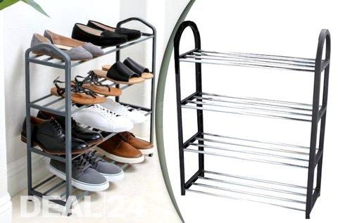 Praktikus cipőtartó állvány 8 pár lábbeli tárolására