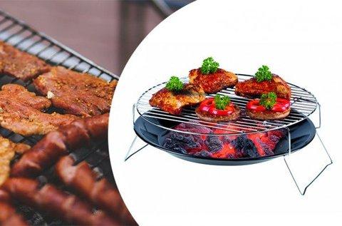 Lábakon álló asztali grill króm grillráccsal