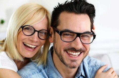 2 db komplett szemüveg látásvizsgálattal