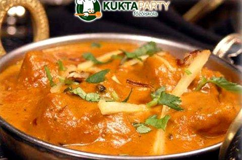 Egzotikus India főzőkurzus 1 főre italfogyasztással