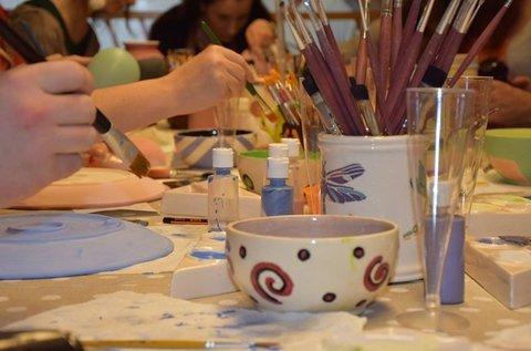 Kerámiaformázás és -festés workshop 2 főnek