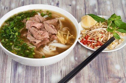 Ízletes vietnámi Pho leves választható hússal