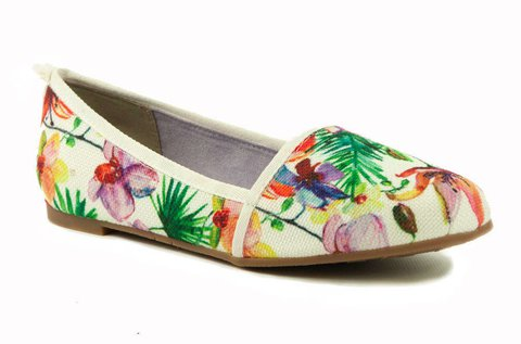 Virágmintás, belebújós Tamaris női cipő