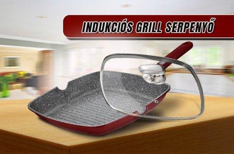 Mischler Cook grill serpenyő üvegfedővel