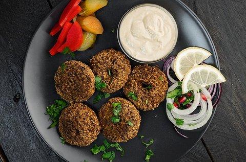 Libanoni vegán ételek 2 fő részére Budán
