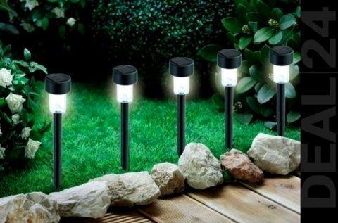 10 db napelemes kerti LED lámpa műanyag házban