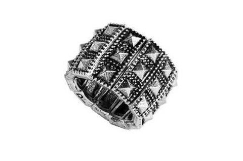 Különleges Police gyűrű ezüst színben