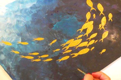 Páros élményfestés közös festmény készítéssel