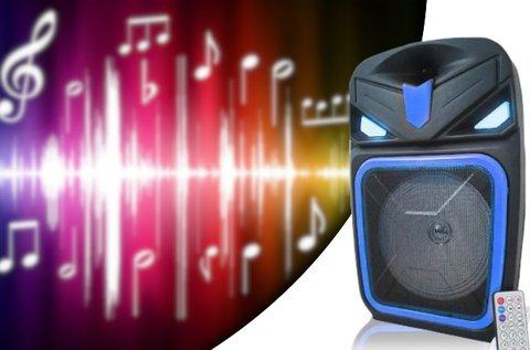 Akkumulátoros bluetooth hangfal távirányítóval