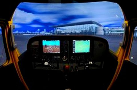Cessna 172 repülőgép szimulátor vezetés