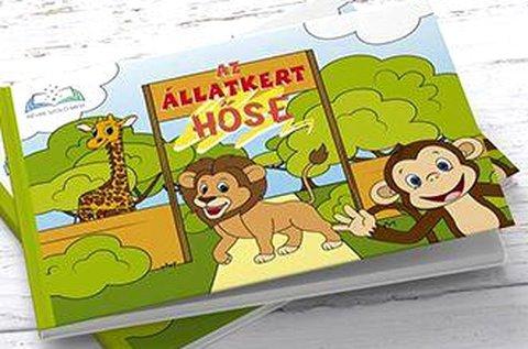 Az állatkert hőse című névre szóló mesekönyv