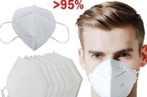 10 db FFP2 szintű légzésvédő arcmaszk