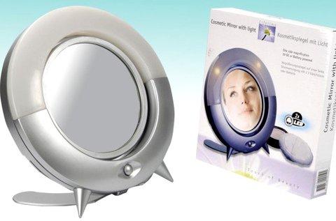 2 oldalas kozmetikai tükör LED világítással
