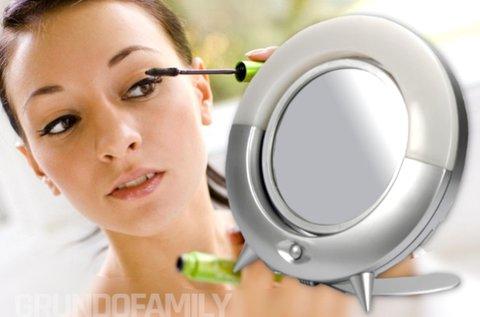 2 oldalas kozmetikai sminktükör LED fénnyel