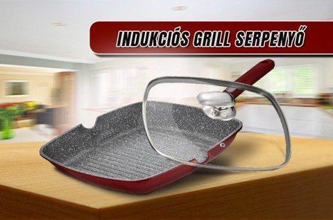 Mischler Cook grill serpenyő hőálló üvegfedővel