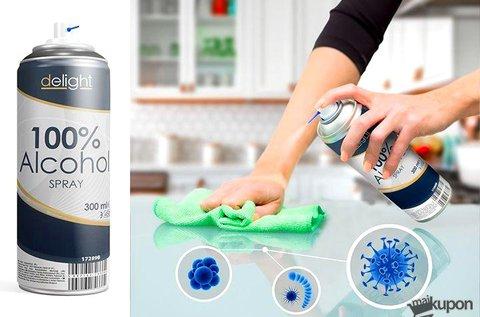 100% alkohol tisztító spray 300 ml-es kiszerelésben