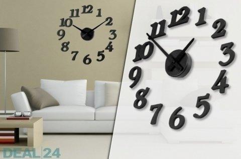 Ragasztható design falióra matt fekete színben