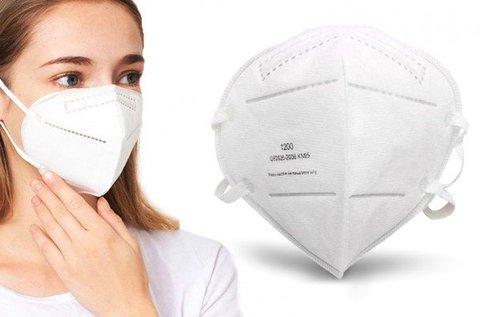 KN95 típusú szájmaszk gumis rögzítéssel
