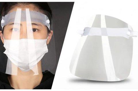 Víztiszta plexi arcvédő fejpajzs