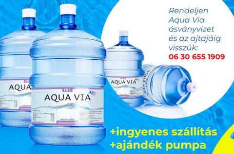 4 ballon 19 l-es Aqua Via ásványvíz pumpával