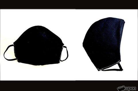 3 db mosható fekete textilmaszk