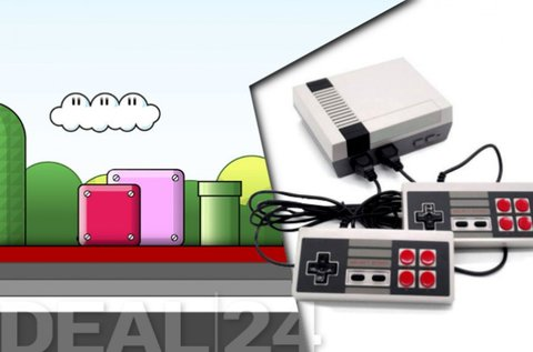 Mini retro játékkonzol 2 kontrollerrel