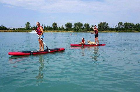 Vízibanán + stand up paddle evezés 6 főre