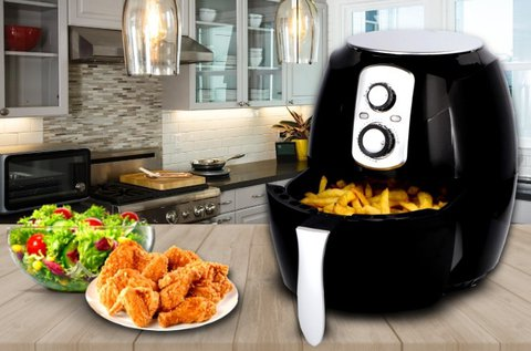Cuisinier Deluxe 1400 W-os olaj nélküli fritőz