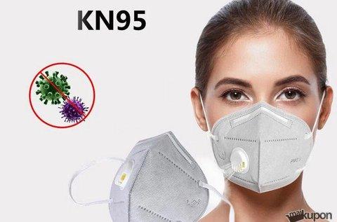 5 db KN95 professzionális szelepes maszk