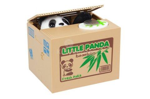 Szenzoros doboz persely mókás pandával