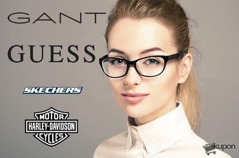 Divatos, egyfókuszú szemüveg márkás kerettel