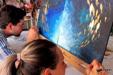 Páros festés 2 részből álló kép készítésével
