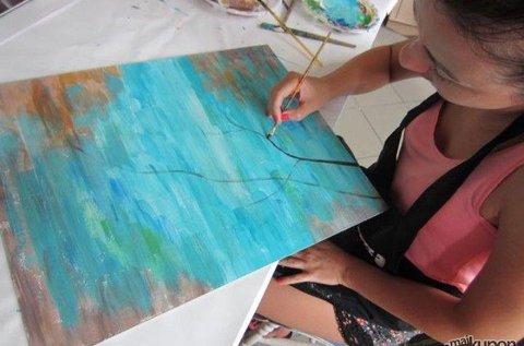 3 órás festő workshop saját kép készítéssel
