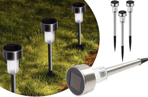 10 db napelemes kerti lámpa LED fénnyel