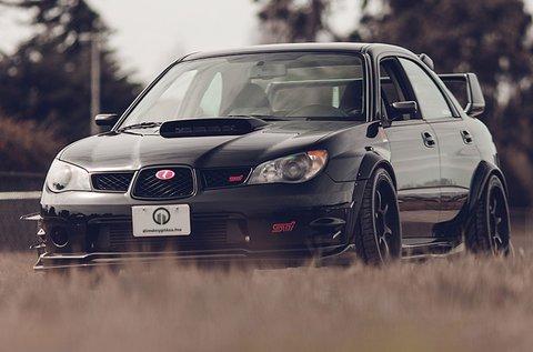 Subaru Impreza WRX STi rally versenyautó vezetés