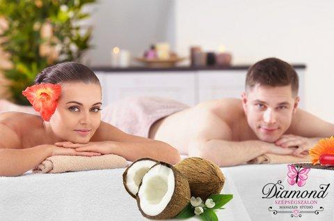 Relaxáló kókuszolajos páros masszázs 90 percben