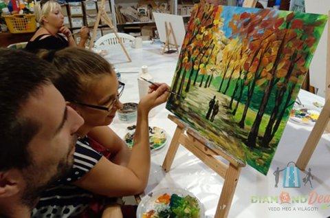 3 órás páros festő workshop eszközhasználattal