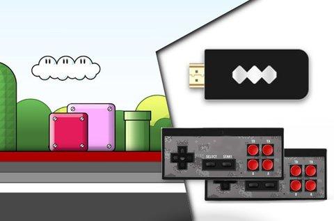 Retro játékkonzol stick 568 beépített játékkal